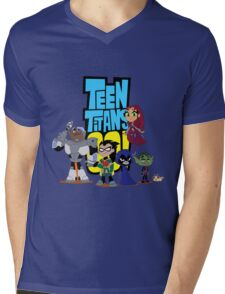 Teen Titans Go! Mens V-Neck T-Shirt