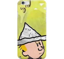 calvin hobbes news papper iPhone Case/Skin