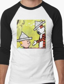 calvin hobbes news papper Men's Baseball ¾ T-Shirt