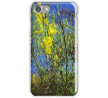 Broom Shrubs under blue sky iPhone Case/Skin
