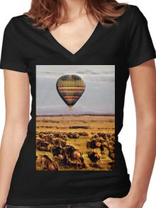 Experiencing The Great Migration Women's Fitted V-Neck T-Shirt