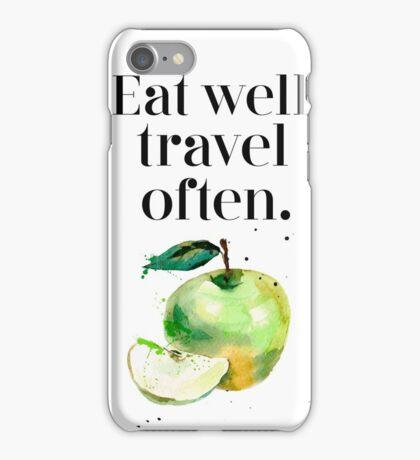 Green apple - eat well! iPhone Case/Skin