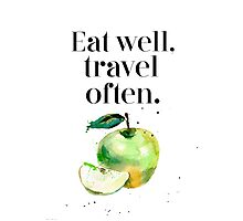 Green apple - eat well! Photographic Print