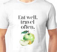 Green apple - eat well! Unisex T-Shirt