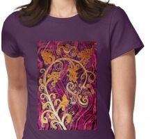 Thai Patterns an acrylic painting Womens Fitted T-Shirt