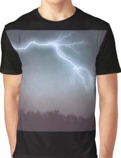 Storm Clouds and Lightning Graphic T-Shirt