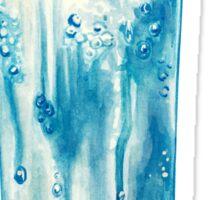 Blue Hawaii Cocktail Pattern - Mint Sticker