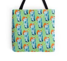 Blue Hawaii Cocktail Pattern - Mint Tote Bag