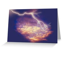 Storm Clouds and Lightning 2 Greeting Card