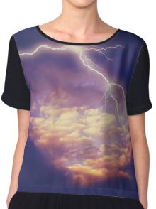 Storm Clouds and Lightning 2 Chiffon Top