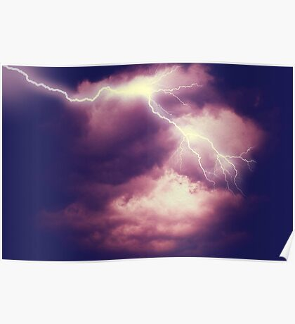 Storm Clouds and Lightning 3 Poster