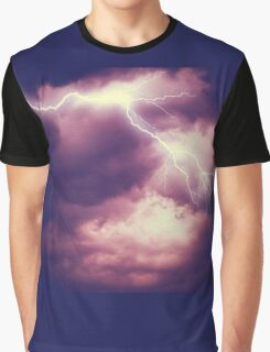 Storm Clouds and Lightning 3 Graphic T-Shirt