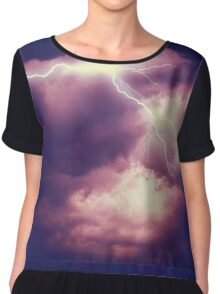Storm Clouds and Lightning 3 Chiffon Top