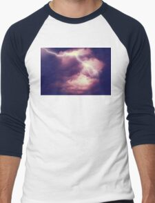 Storm Clouds and Lightning 3 Men's Baseball ¾ T-Shirt