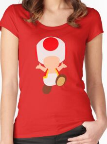 Toad (Red) Women's Fitted Scoop T-Shirt