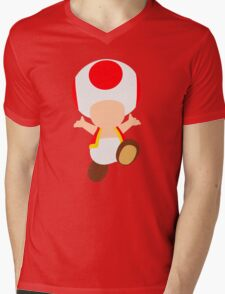 Toad (Red) Mens V-Neck T-Shirt