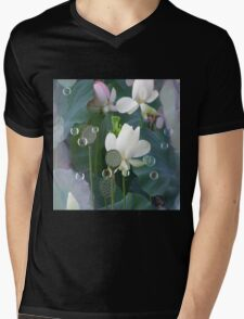 Lotus with Mantis Mens V-Neck T-Shirt