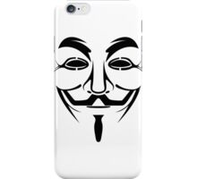 Anonymous Guy Fawkes Protest V For Vendetta iPhone Case/Skin
