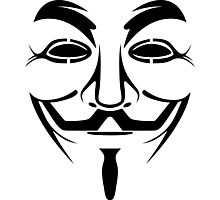 Anonymous Guy Fawkes Protest V For Vendetta Photographic Print