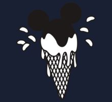 B&W Mickey Icecream Splash Kids Tee