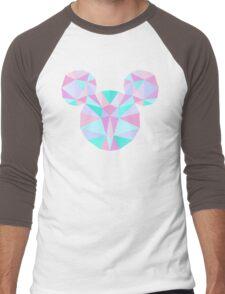 Crystal Mouse Men's Baseball ¾ T-Shirt