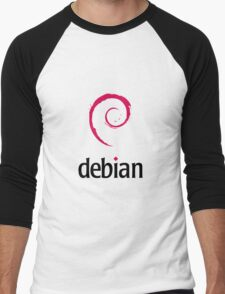 Debian Linux Men's Baseball ¾ T-Shirt