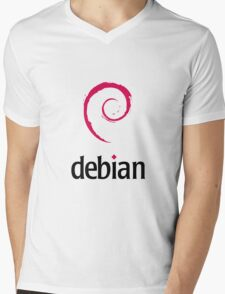 Debian Linux Mens V-Neck T-Shirt