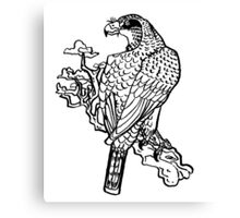 inkbrush hawk Canvas Print