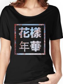 BTS HYHH 花樣年華  with Pink Flowers Women's Relaxed Fit T-Shirt