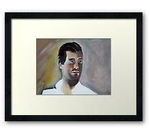 Man in White Shirt Framed Print