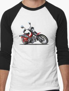 Cartoon Motorcycle Men's Baseball ¾ T-Shirt