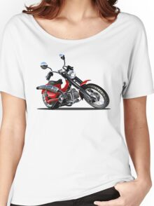 Cartoon Motorcycle Women's Relaxed Fit T-Shirt