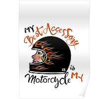 Lady Motorcycle Poster