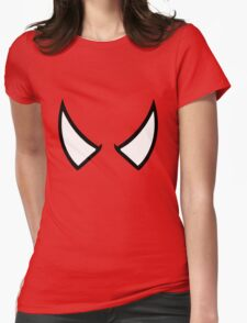 SPIDERMAN EYES - drawing Womens Fitted T-Shirt