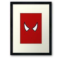SPIDERMAN EYES - drawing Framed Print