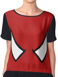 SPIDERMAN EYES - drawing Chiffon Top