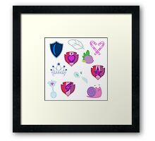 My little Pony - Foals of Ponyville Cutie Mark (with Nyx + Spike) V2 Framed Print