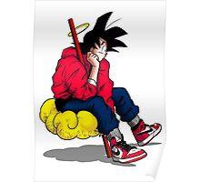 Street Goku (with shadow) Poster