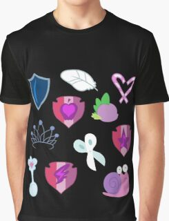 My little Pony - Foals of Ponyville Cutie Mark (with Nyx + Spike) Graphic T-Shirt