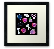 My little Pony - Foals of Ponyville Cutie Mark (with Nyx + Spike) Framed Print