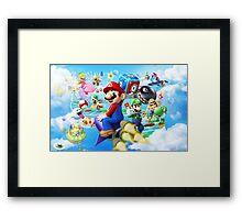 Mario World - Sky Framed Print
