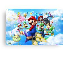 Mario World - Sky Canvas Print