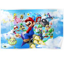 Mario World - Sky Poster