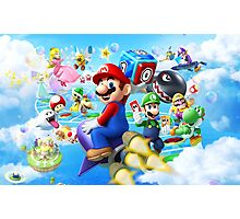 Mario World - Sky Photographic Print