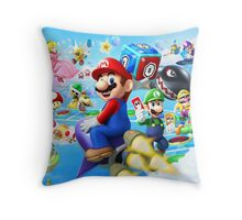 Mario World - Sky Throw Pillow