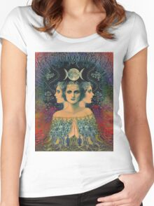 PSYCHEDELIC India Women's Fitted Scoop T-Shirt