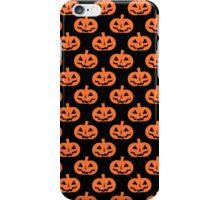 Black and Orange Jack O' Lantern Pattern iPhone Case/Skin