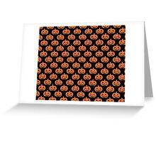 Black and Orange Jack O' Lantern Pattern Greeting Card