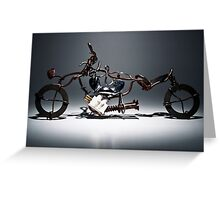 Metal Biker Art Greeting Card