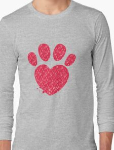 Paw and heart shape  Long Sleeve T-Shirt